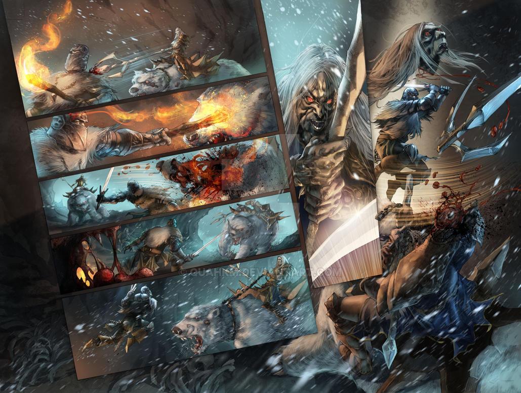 Dark Souls : Winter's Spite Issue 2 Interior by quahkm