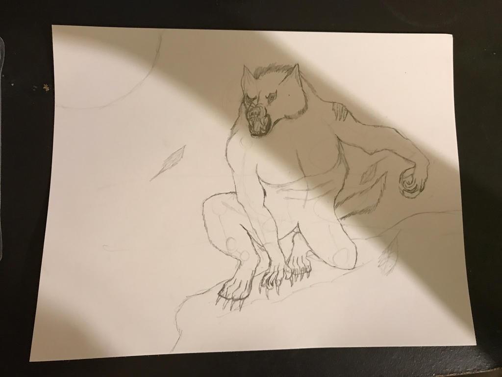 Van Helsing Werewolf Sketch by PieIsAGamer