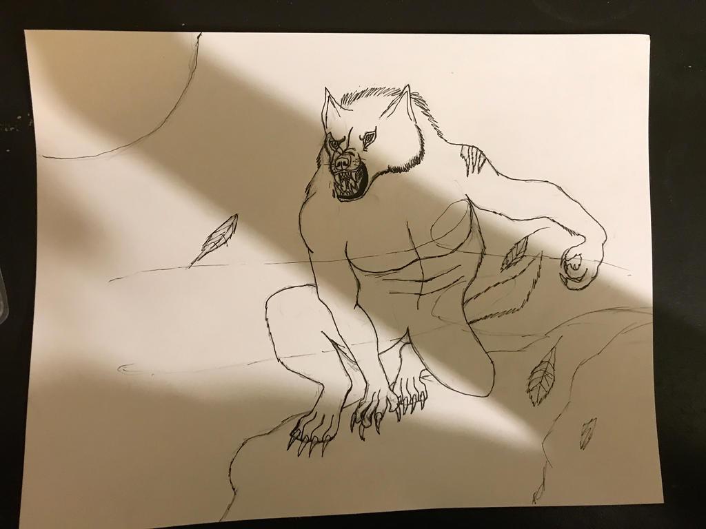 Van Helsing Werewolf Inked by PieIsAGamer