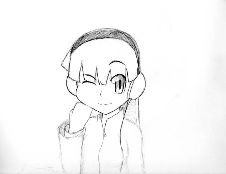 Line Art Headphones : Girl with headphones line work by doublekillz on deviantart