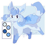Glaceon x Mantyke Adoptable (OPEN)