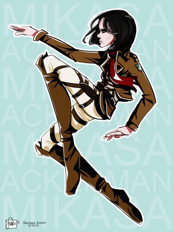 Mikasa Ackerman by irrie