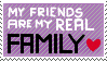 Friends Are Family - Stamp by Ami-Cat