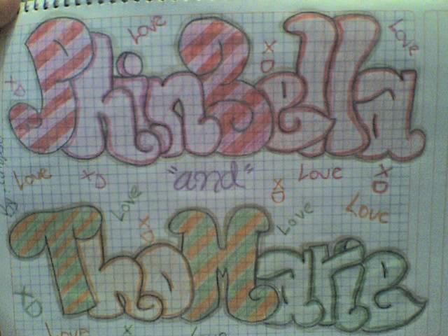 Graffiti ThoMarie y Phinbella! by Calypsaly on DeviantArt