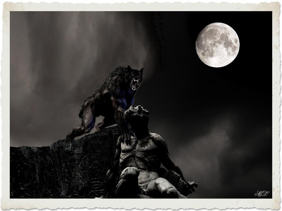 Werewolf on rooftop - Remake by marianoleonardi
