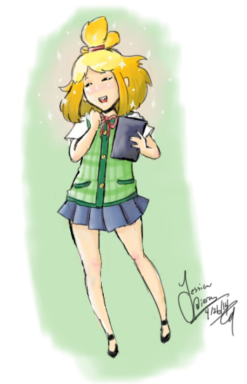 Isabelle animal crossing human