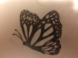 Original butterfly tattoo by JenRichardson