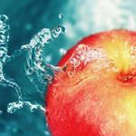 Apple gets dressed in water