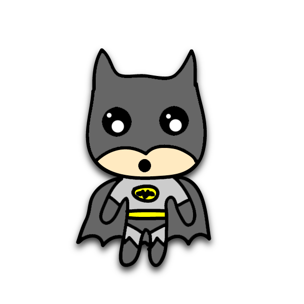 Chibi Batman by kiddomerriweather on DeviantArt