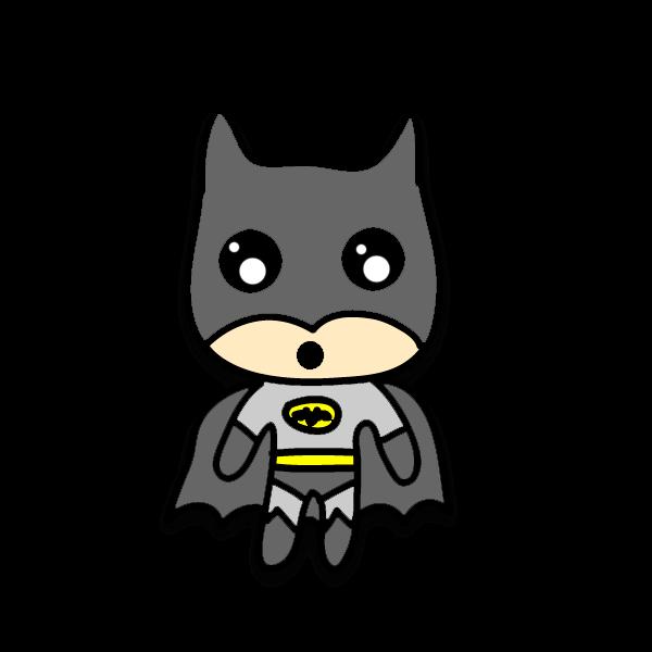 Chibi Batman by kiddomerriweather on DeviantArt