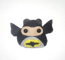 Batman Plushie by kiddomerriweather
