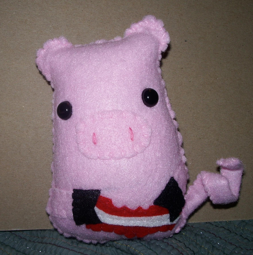 Cannibalistic Pig Plushie by kiddomerriweather