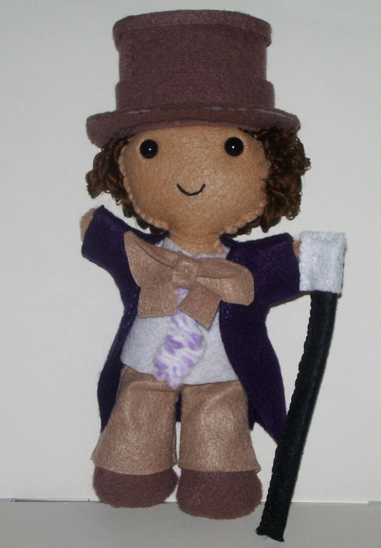 CM: Willy Wonka Plushie by kiddomerriweather
