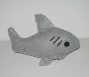Little Shark Plushie by kiddomerriweather