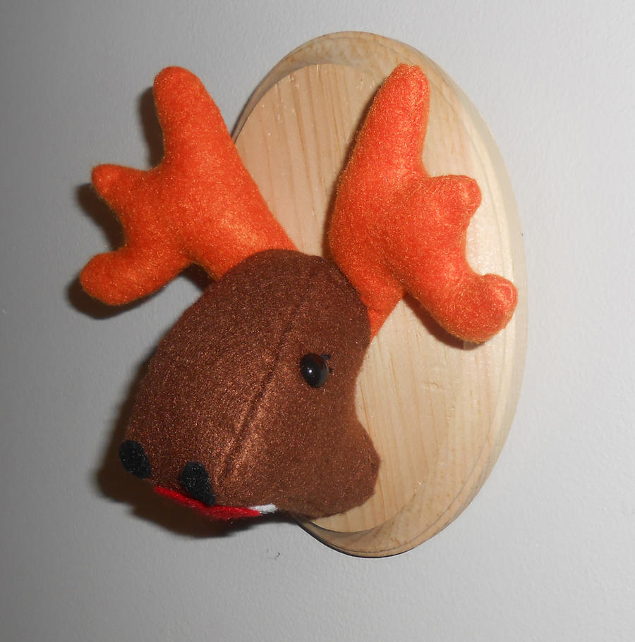 Missy Moose Faux Taxidermy Plush by kiddomerriweather