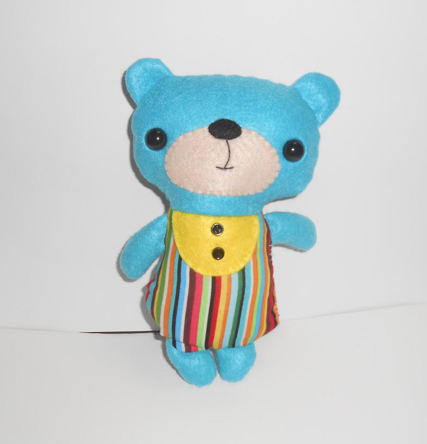 Blue Kawaii Bear Plushie by kiddomerriweather