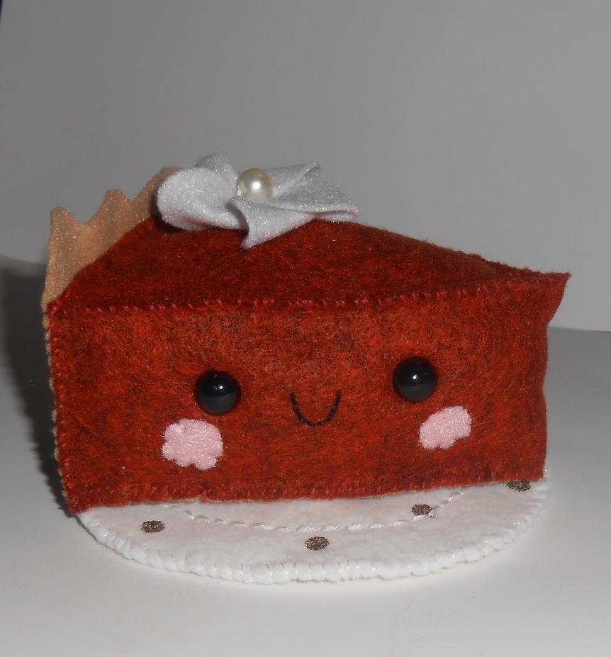 Kawaii Pumpkin Pie Plushie by kiddomerriweather