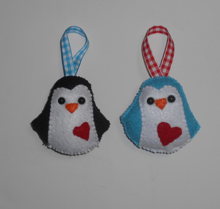 Plush Felt Penguin Christmas Ornaments by kiddomerriweather on ...