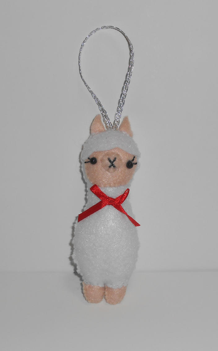 Kawaii Alpaca Ornament by kiddomerriweather