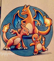 Charmander Family by Jaylynessa