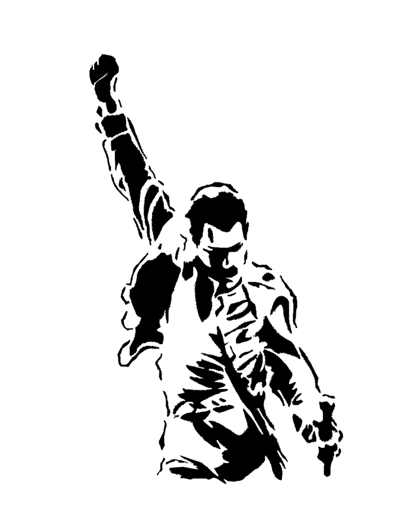 Freddie Mercury Stencil by WESLEYCANDRAWN on DeviantArt