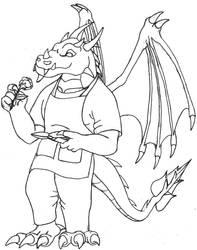 Gardener Dragon by elzataerinn