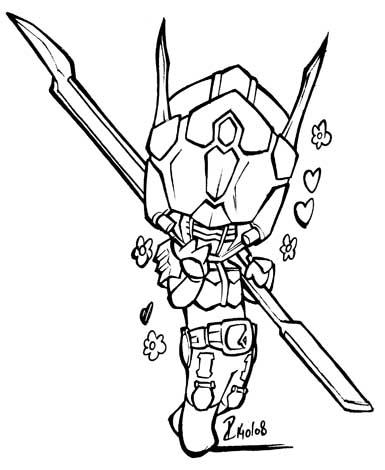 Kamen Rider Den O Rod Form by dekarogue