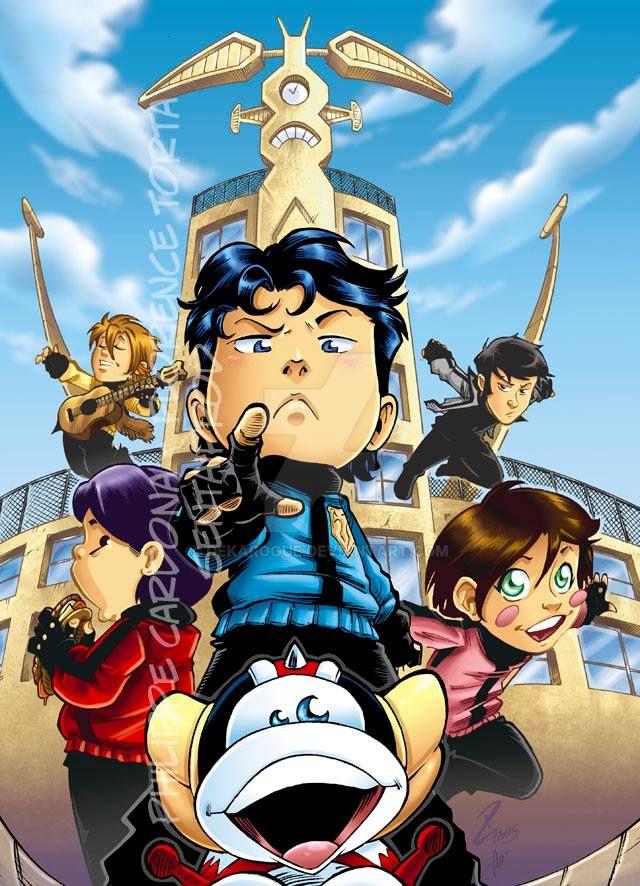 Sentai School New Edition Vol01 Cover COLOR by dekarogue