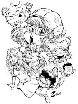 Doctor Slump and Arale chan