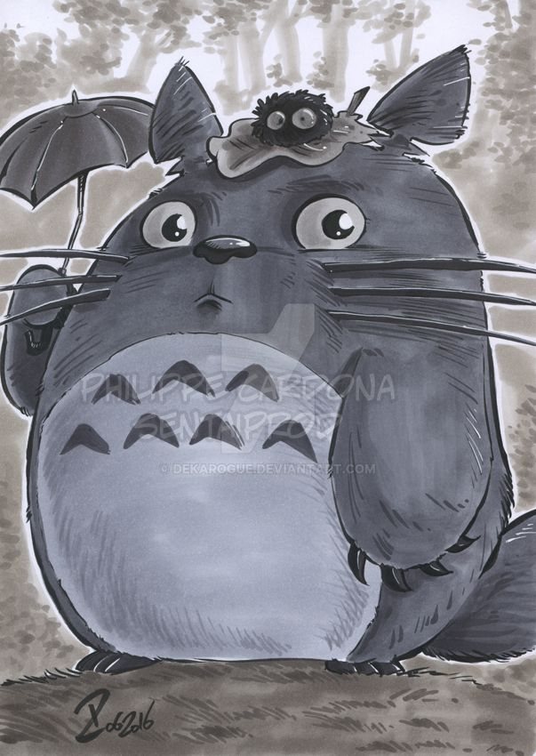 Copic Markers Totoro by dekarogue