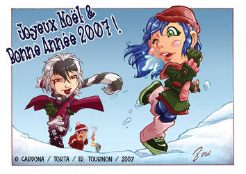 sentai school snow fight by dekarogue