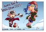 sentai school snow fight