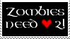 [STAMP] - Zombies need love 2! by MythicalSatyr