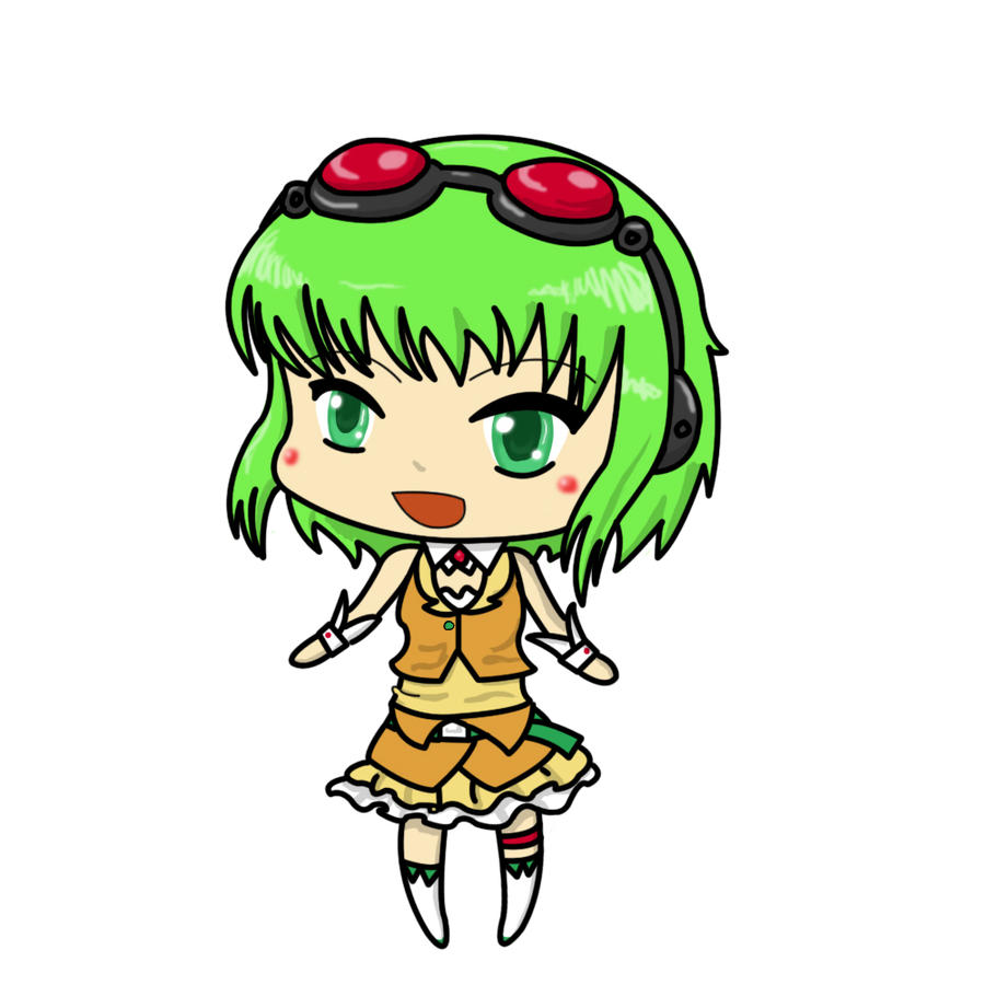 Gumi Chibi Cat Gumi Chibi From Vocaloid by