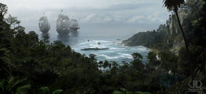 MATTE PAINTING - Christophe Colomb