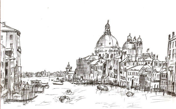 1 hour sketch venice italy by frozenark