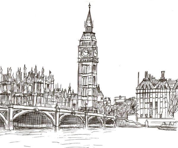 1 Hour Sketch- London England By FrozenArk On DeviantArt