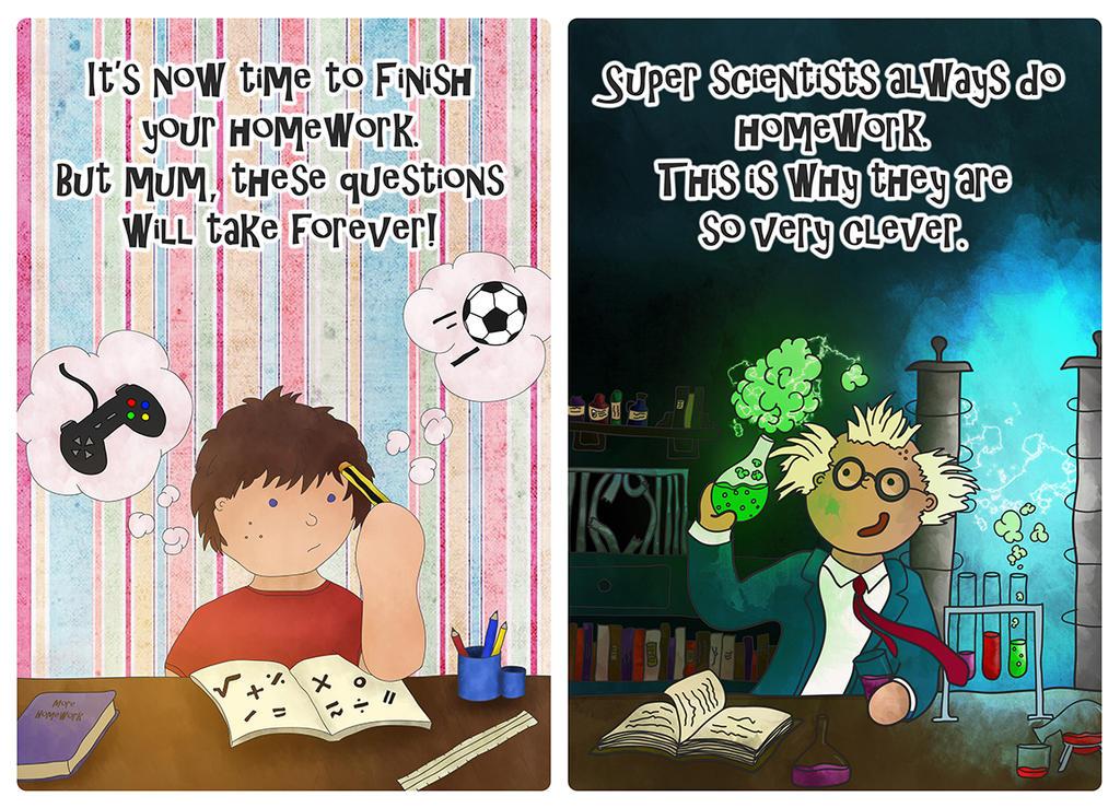 But Mum... Homework by FrozenArk
