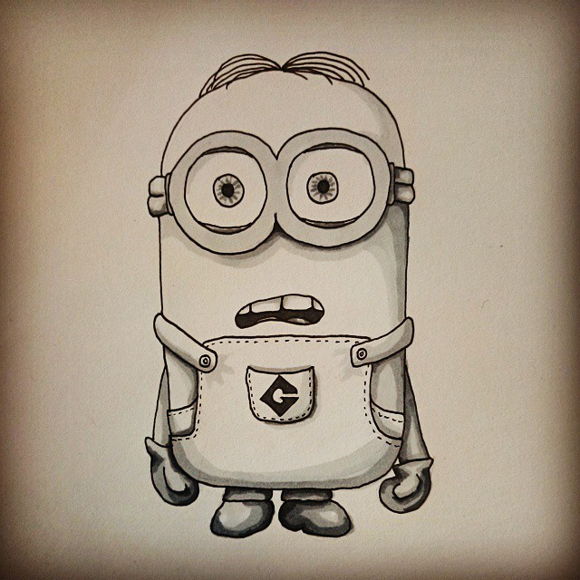 The gallery for --> How To Draw A Minion Dave Minion Drawing Dave