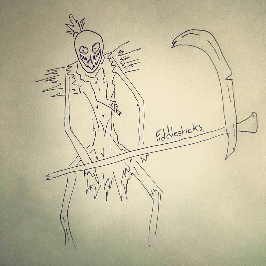 Fiddlesticks League of Legends Quentin Blake Style by FrozenArk