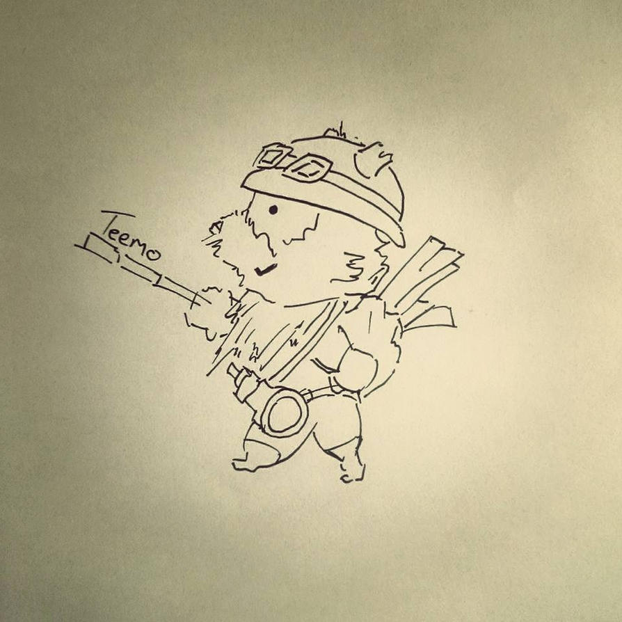 Teemo - League of Legends - Quentin Blake Style by FrozenArk
