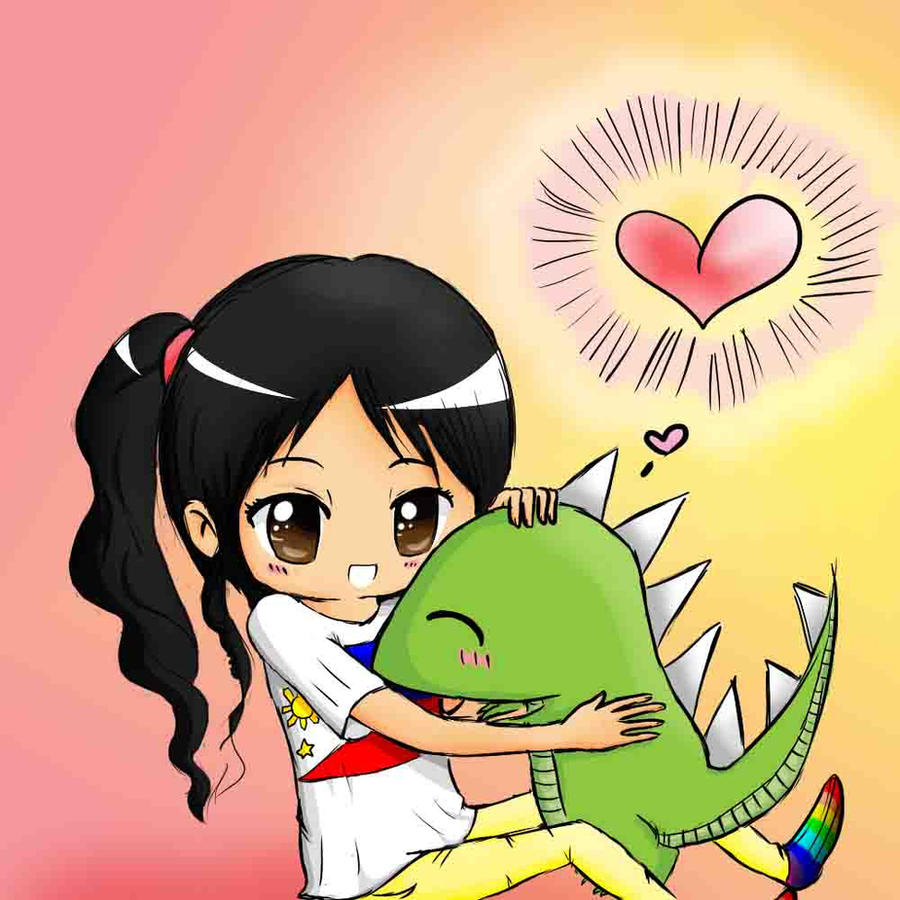 I love you Mr. Dinosaur c: by Jewieee
