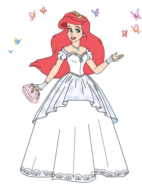 Ariel wedding dress restyle by dreamseeker3000 on DeviantArt