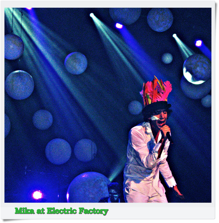 Mika at Electric Factory by AmyIsInIt