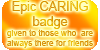 Epic CARING badge by VisAnastasis