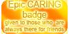 Epic CARING badge by VisAnastasis