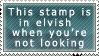 Elvish stamp by Daakukitsune
