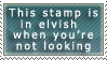 Elvish stamp by Daakukitsune