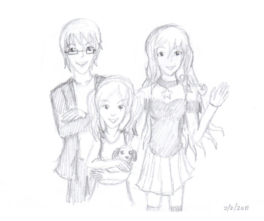 Free Sketch: Family Drawing By Forte-Rock On DeviantArt