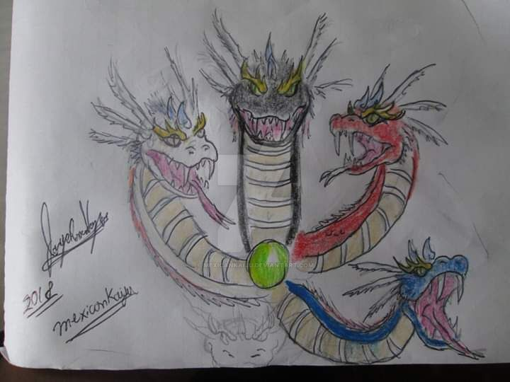 Ehecacozcoatl's heads sketch by Mexicankaiju